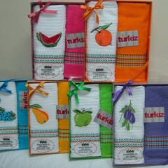 Вафельные и махровые полотенца Мимоза Туркиз