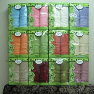 Комплект полотенец GURSAN в коробке и сумочке