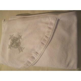 Полотенце для крещения со стразами
