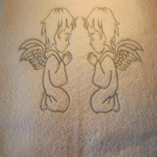Полотенце для крещения Ангелы