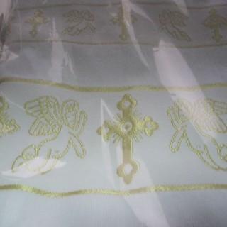Полотенце для крещения 70*140 с ангелами