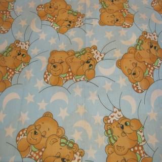 """Постельное белье """"Медвежонок"""" в кроватку с простынью на резинке"""
