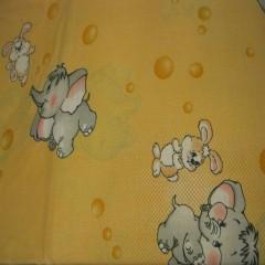 """Постельное белье в кроватку с простынью на резинке """"Слоник"""""""