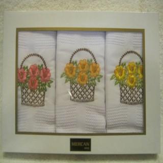 """Набор кухонных полотенец """"Цветы"""""""