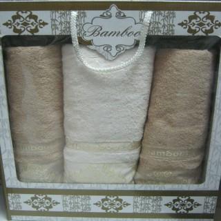 Комплект бамбуковых полотенец 3 штуки