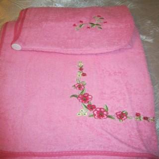 Сауна 2 предмета махра с вышивкой